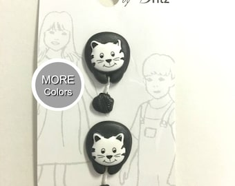 Belle Buttons By Dritz Kids Children Cat 20mm ( 13/16 inches) Pet Animals Button |  Item BB566  *B3