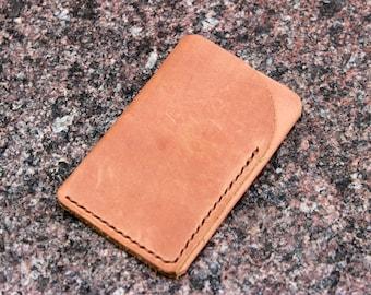 Leather card sleeve  credit card sleeve  business card sleeve leather card case  minimalist card case  slim card case  leather card holder