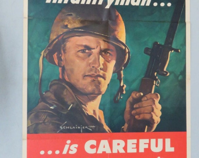 Featured listing image: WW2 U.S. War Department Poster -- The Battle-Wise Infantryman, 1944