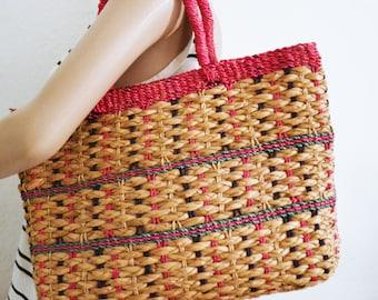 Woven Straw purse,wicker purse,bag,Tote bag,summer purse,pink,tan lavender