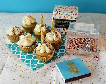 Happy Birthday Gift Box, Birthday Gift, Gluten-Free Cupcakes, Sugar-Free Cupcakes, Gift Boxes