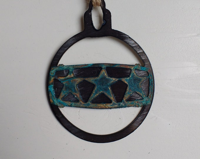 Patina Triple Star Ornament