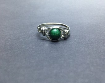 Dolomite Wire Wrapped Ring