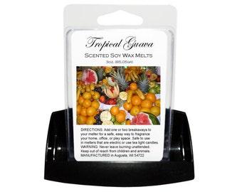 TROPICAL GUAVA Soy Melts - Wax Tarts - Soy Tarts - Candle Tarts - Melting Tart - Scented Tart - Tart Melt - Wax Melt - Clamshell - Dye Free
