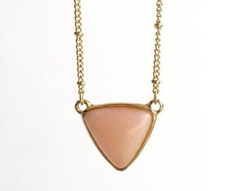 Pink Marble Pendant, Simple, Boho Pendant