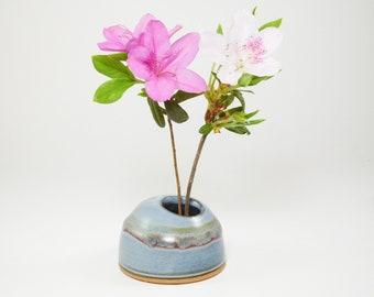Ikebana - Ikebana Vase - Japanese Ikebana - Ikebana Container - Ikebana Bowl - Ceramic Ikebana - Pottery Ikebana - Pin Frog - In Stock