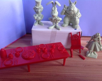 Marx Alice In Wonderland Figures and Tea Party Table