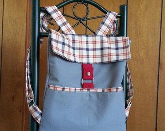 Women's Handmade Slim Backpack - Adjustable Straps - 4 Pockets