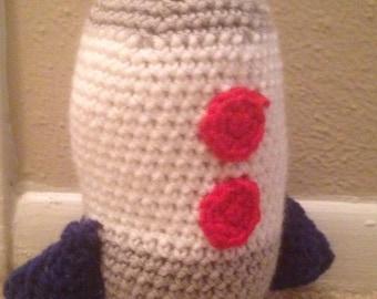 Crochet rocket ship