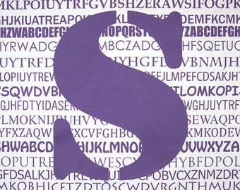 "Purple ""S"" Fabric Panel"