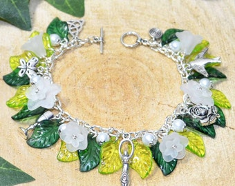 The Charmed Maiden Triple Goddess Charmed Bracelet - Handmade Pagan Jewellery for Wicca, Witch