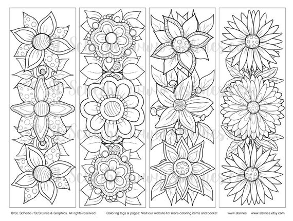 Outstanding Bookmark Coloring Pages Pictures Page Ideas