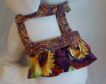 Dog Harness, Dog Dress, Dog Clothes, Small Dog Harness, Large Dog Harness, Sunflowers, Cute Dog Clothing, Designer Dog Harness