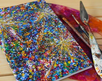 A5 NoteBook:Dandelion Seeds-Art Student Gift-Christmas/Xmas-Stationary Gifts for her under 5-Stocking Stuffer Gifts Women-Blank Sketchbook