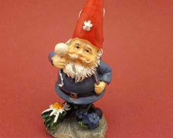 Gnome Astrologer The Red Cap Little Home Decor Collectible Item Handmade
