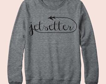 Jetsetter - Sweatshirt, Crew Neck, Graphic