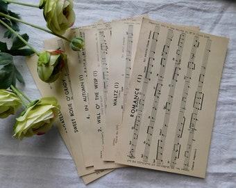 Vintage 1959 Song Dex Cards - Set Of 6