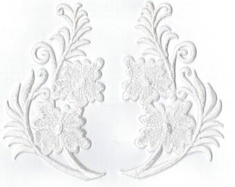 Coat large flower iron or sew Applique Patch 6 x 11cm