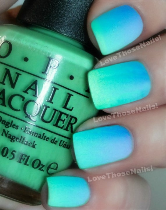 OPI Caribbean Ombre™ Matte Mani~You Are So Outta Lime, Can\'t Find My ...