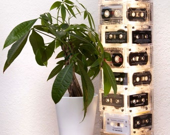 Retro Recycled Cassette Lamp