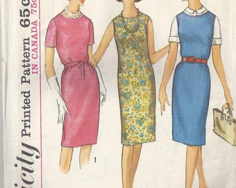 Simplicity 5409 1964 Misses' Dress or Jumper Uncut Simple to Sew Bust 35