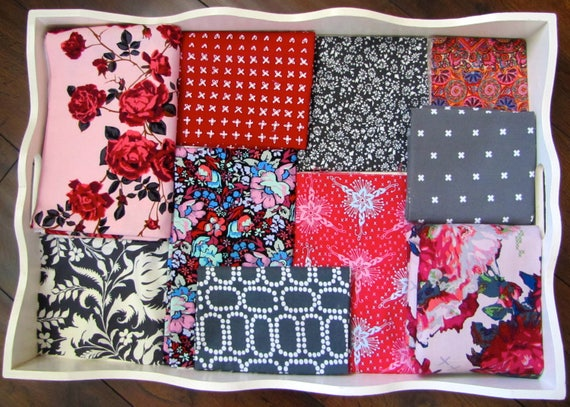 Anna Maria Horner Climbing Roses Patchwork and Minky Blanket Made to Order