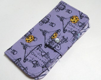 Bi-fold Checkbook Wallet in Cloe's Imagination by Tina Givens