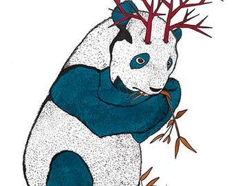 Panda with horns.