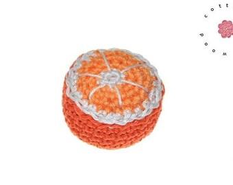 Crochet  orange - 1 psc - 100% cotton - crochet fruit
