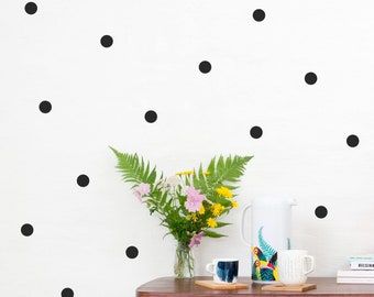 Polka Dots 3 cm wall decals, Eco-friendly wall decals, PVC-free wall decals, Kids room wall decals, Nursery wall decals, Round Wall Stickers