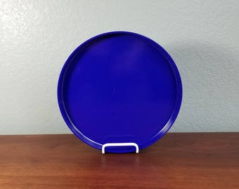 One Blue Heller Stackable Dinner Plate