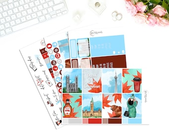 Proud To Be Canadian || MINI Weekly Kit || Stickers for use with the Erin Condren Life Planner
