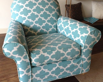 Custom Chair Slipcover For Your Discontinued Pottery Barn Dream Rocker From  Your OWN Fabric