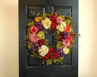 Spring Wreaths For Front Door Wreaths Summer Wreaths Decorations Outdoor  Wreath Birthday Gifts Summer Wreath