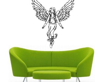 Angel vinyl wall DECAL-magical interior design, sticker art, room, home and business decor