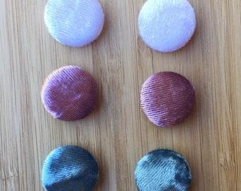 Velvet Button Earrings