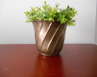 Vintage Brass, Brass Planter,Vintage Brass Planter,Vintage Planter,Metal Planter,Brass Home Decor