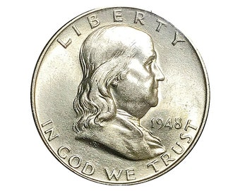1948 D Franklin Half Dollar - Gem BU / MS / Unc