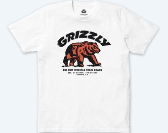 WALKING GRIZZLY T-SHIRT (White)