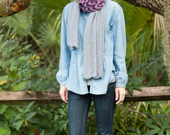 Rachael scarf - Bold, delicate lace scarf