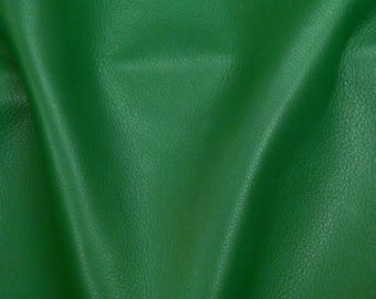 """Leather 8""""x10"""" KELLY Green KING full grain Cowhide 3-3.5 oz / 1.2-1.4mm PeggySueAlso™ E2881-27 Hides available"""