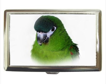 Hahn's Macaw Hahns Parrot Bird Money Cigarette Case Chrome Holder Wallet