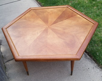 Hexagonal mid century coffee table ***local pick up only***