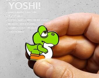 Baby Yoshi Hard Enamel Pin / Blind Bag / Nintendo / 16 bit / SNES / Hat Pin / Lapel Pin / Hard Enamel /  Pin / Lapel Geek Pin