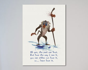 Rafiki Quote Watercolor Art Print Poster The Lion King