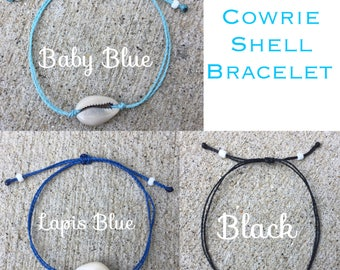 Cowrie Shell Bracelet or Anklet; choose your color