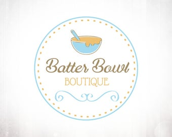 Premade Logo Design • Batter Bowl