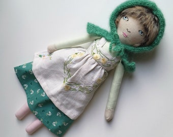 Handmade, Heirloom Linen Cloth Doll named Linda