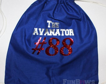 Custom Softball or other sport  Drawstring Backpack by Funbows !