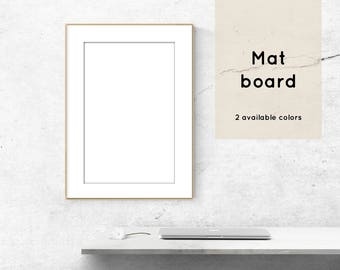 Mat board Snow white and Off white Print accessory Acid and lignin free conservation grade
